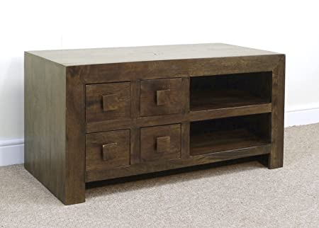 Mercers Furniture Dakota 4-Drawer TV Unit - Mangowood