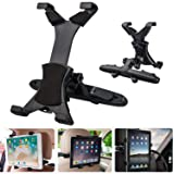 LinkStyle Tablet Car Headrest Mount 360 Degree Rotation Headrest Tablet Mount Holder Car Back Seat Tablet Mount Compatible with iPad Mini, iPad Pro, K