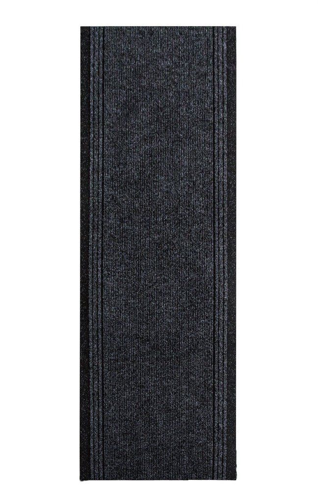 "Grey Black Skid Resistant Durable Entry Mats For Kitchen And Hallway - Sold And Priced Per Foot - 2 2"" Wide"
