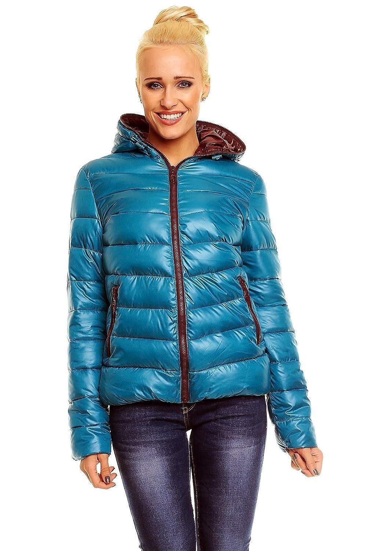 Damen Steppjacke Winterjacke Wetlook Skijacke Jacke Übergangsjacke günstig bestellen
