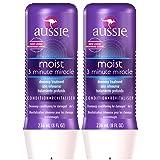 Aussie Moist 3 Minute Miracle Moist Deeeeep Liquid Conditioner - 8 oz - 2 pk (Tamaño: 2 Pack)