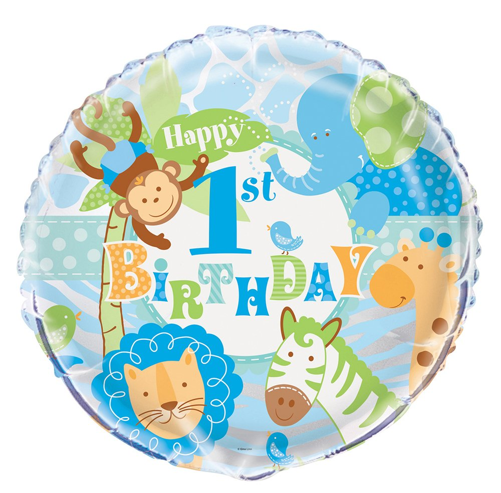 Boys First Birthday Party Balloons