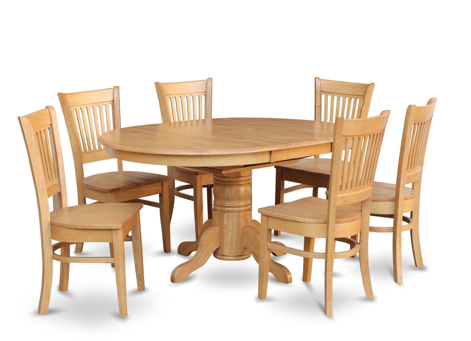 7 pc oval table wih butterfly leaf and 6 solid wood seat for Kitchen set new leaf