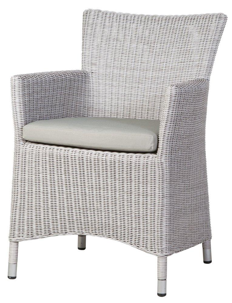Siena Garden 722282 Sessel Ballina bi-color weiß, L 59 x B 83 x H 60 cm online kaufen