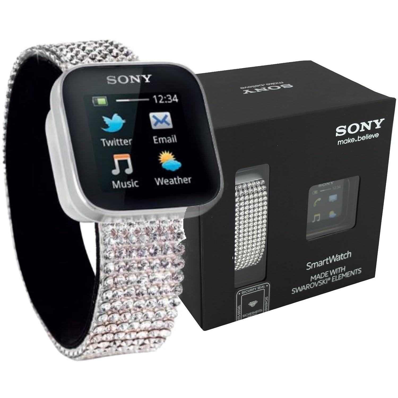 Smartwatch de Sony con decoraciones de piedras de svarovski