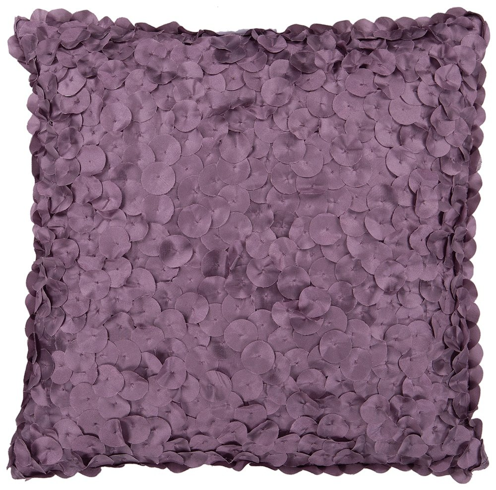 Surya BB-053 Machine Made 100% Poly Plum 18 x 18 Decorative Pillow