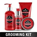 Old Spice Beard Lineup for Men - Beard Wash/Shampoo, Beard Conditioner, Beard Balm, Beard Oil (Color: Beard Kit)