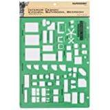 Rapidesign Interior Design Template for Kitchen/Bed/Bath, 1 Each (R716) (Color: Green)