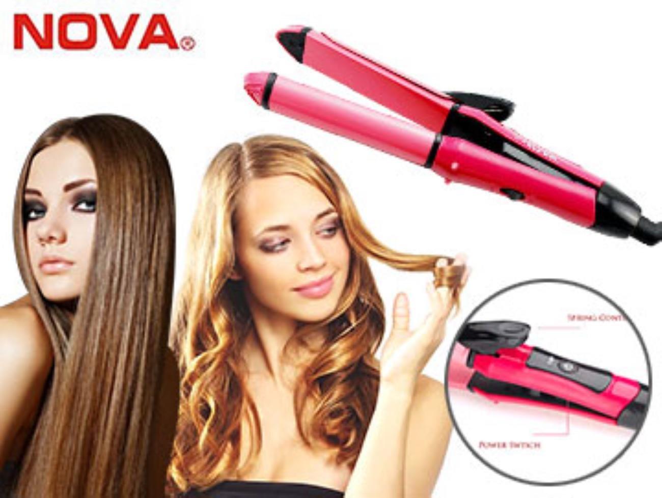 Image result for nova hair straightener and curler