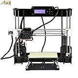 Anet Auto Leveling A8 3D Printer with Included Filament, 0.4mm Extrude Nozzle, Tools, Auto Level Sensor - Reprap i3 DIY 3D Printer Kit Self Levelling Sensor (Color: black, Tamaño: 51cm x 31cm x 21cm)