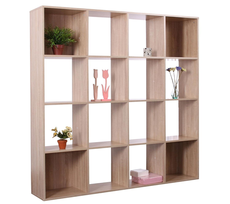 Regalwand Ottawa, Raumteiler Bücherregal Standregal Hochregal, 150x150x30cm ~ eiche jetzt bestellen
