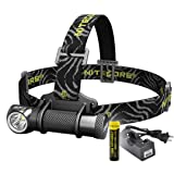 Bundle: 3 items- Nitecore HC30 1000 Lumens Rechargeable LED Headlamp with 18650 Battery and Charger