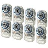ZirconLeakAlert+ LED! WaterLeakDetector & Flood Sensor Alarm / WaterLeakSensor with DualLeakAlarms 90dB Audio + Flashing LED lights / Battery Powered (Contractor 8 Pack) Batteries Included (Tamaño: 8 Pack)
