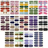 TYLCC 14 Sheets Full Wraps Nail Polish Stickers,DIY Self-Adhesive Nail Art Decals Strips Manicure Kit for Women Girls (Color: color2)