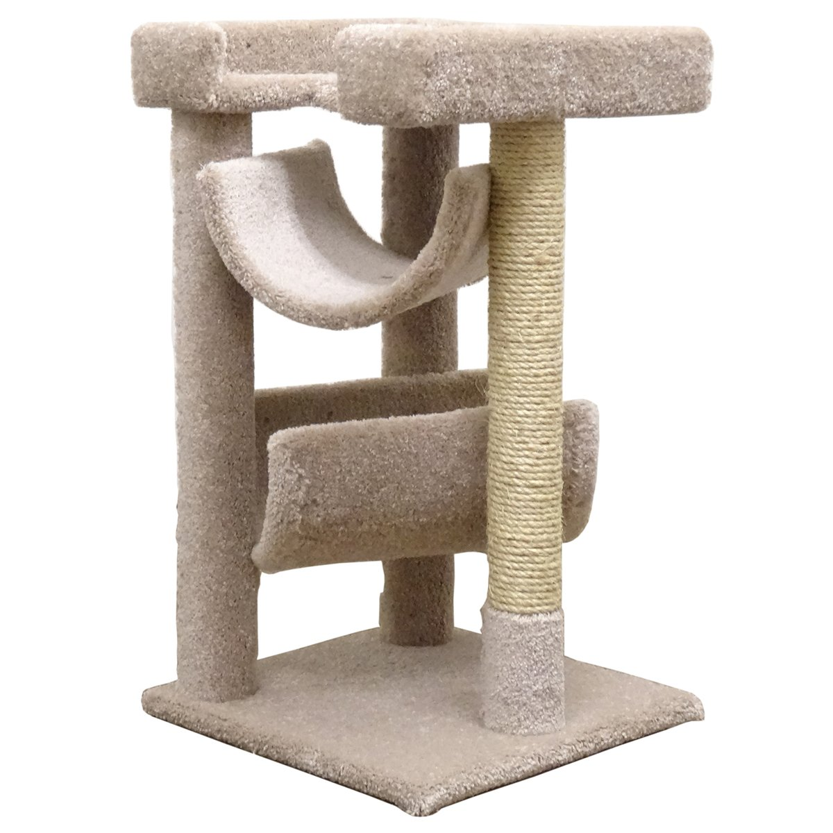 Cool Cat Tree Plans Cat Trees Carpet Covered Works Art