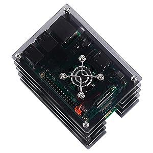 GeeekPi Raspberry Pi Cluster Case, Raspberry Pi Case with