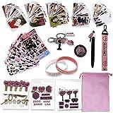Fatyi Blackpink Gift Set with Lomo Card, Keychain, Lanyard, 3D Sticker, Sticker, Pen, Wristband, Phone Stand, Clip