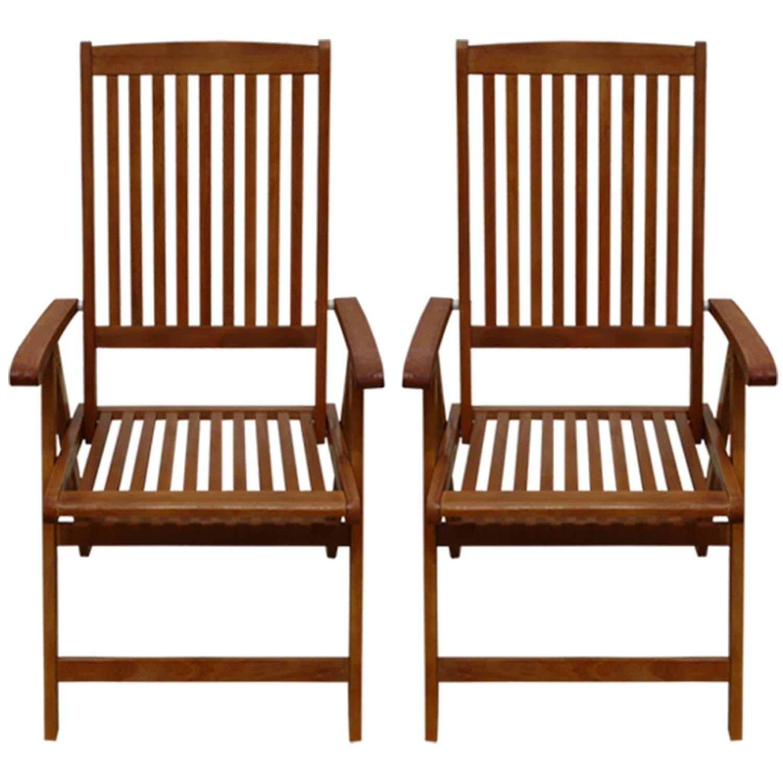 indoba® IND-70302-ST - Serie Sun Shine - Gartenstühle aus Eukalyptus Holz - fünffach verstellbar, klappbar - 2 Stück