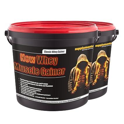 2x3kg New Whey Muscle Gainer! Whey protein Anabol Anabolika Eiweißshake Kraft Muskelaufbau Geschmack Erdbeere