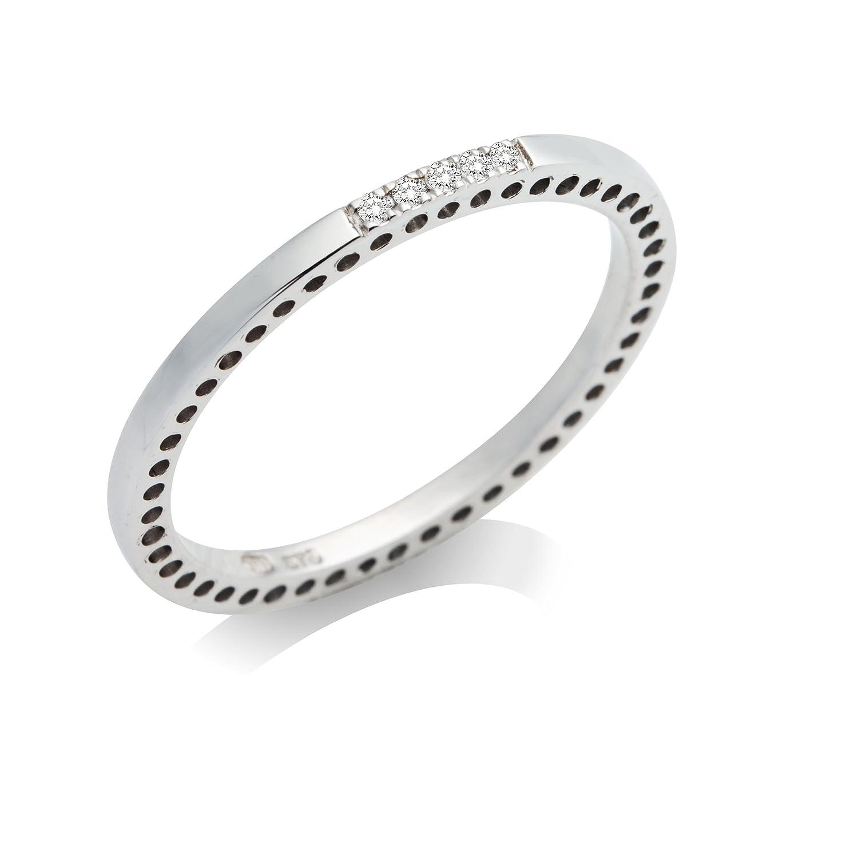 Miore Damen Ring Memoire 9 Karat (375) Weißgold Brillanten schenken