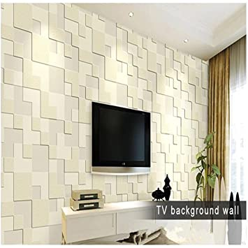 Marvelous LussoLiv 10m Modern Simple 3D Mosaic Living Room Non Woven Wallpaper Home  Background Decoration. Buy Part 15