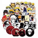 Naruto Laptop Stickers for Kids, 100 Pcs Anime Vinyl Sticker for Water Bottle Nintendo Switch Luggage Skateboard Snowboard Bike Motorcycle Car Bumper, Cute Cartoon Animal Monsters Decal for Children (Color: Naruto 100pcs)