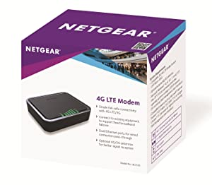 NETGEAR LB2120-100NAS 4G LTE Modem with Two Gigabit Ethernet Ports – Instant Broadband Connection and Automatic 4G LTE/3G Backup (LB2120)