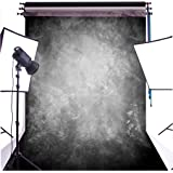 DULUDA 5X7FT Abstract Black Grey Retro Photograghy Backdrop Customized Photo Background CP studio prop GMTX08A (Tamaño: 5X7FT)
