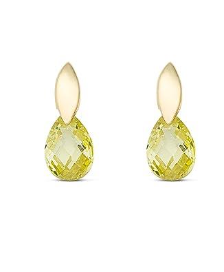 18K Gold Filled SAPHIR 3D larme zircon luxe Topaz Femmes Clous D/'Oreilles