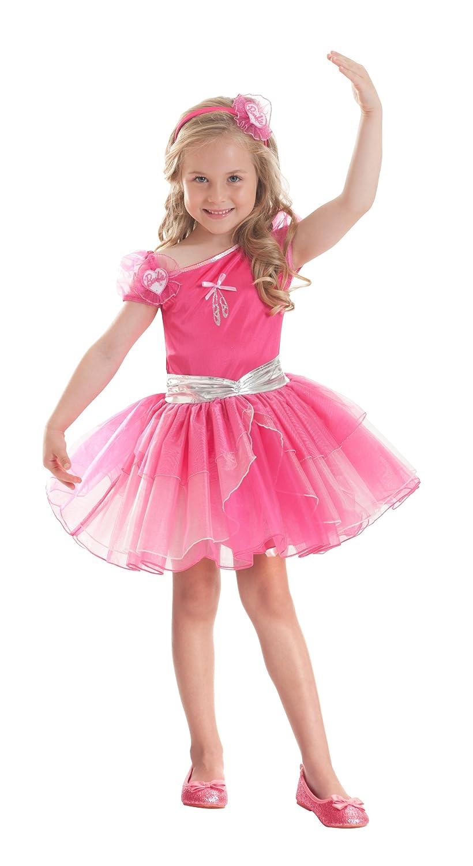 Fuchsiafarbenes Barbie™ Ballerina-Kostüm für Mädchen – 5 bis 7 Jahre bestellen