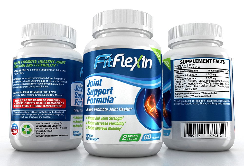 FitFlexin Joint Support Formula Tablets - World's #1 Rated Formula Joint Repair and Lower Back Pain Relief Tablets - #1 Choice for Sufferers of Arthritis ..