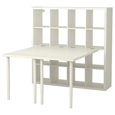 IKEA Kallax - combinación de escritorio blanco