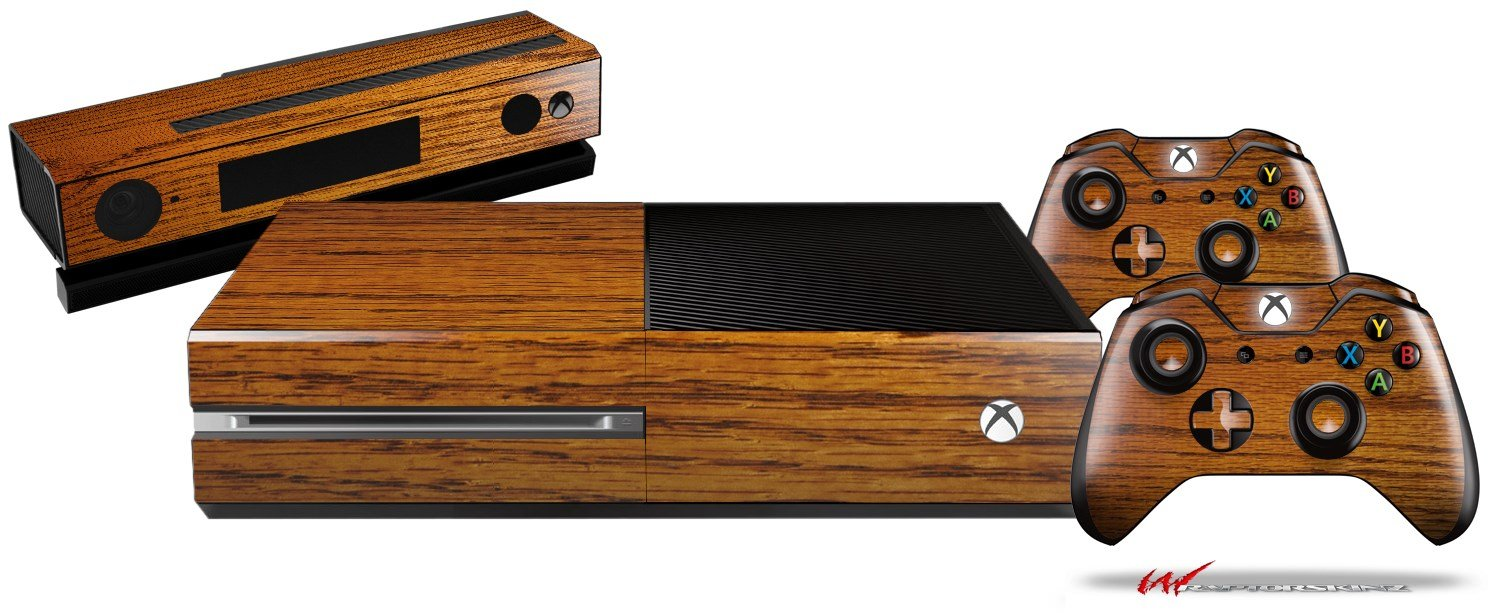 Wood Grain - Oak 01 - Holiday Bundle Decal Style Skin Set fits XBOX One Console, Kinect and 2 Controllers (XBOX SYSTEM SOLD SEPARATELY)