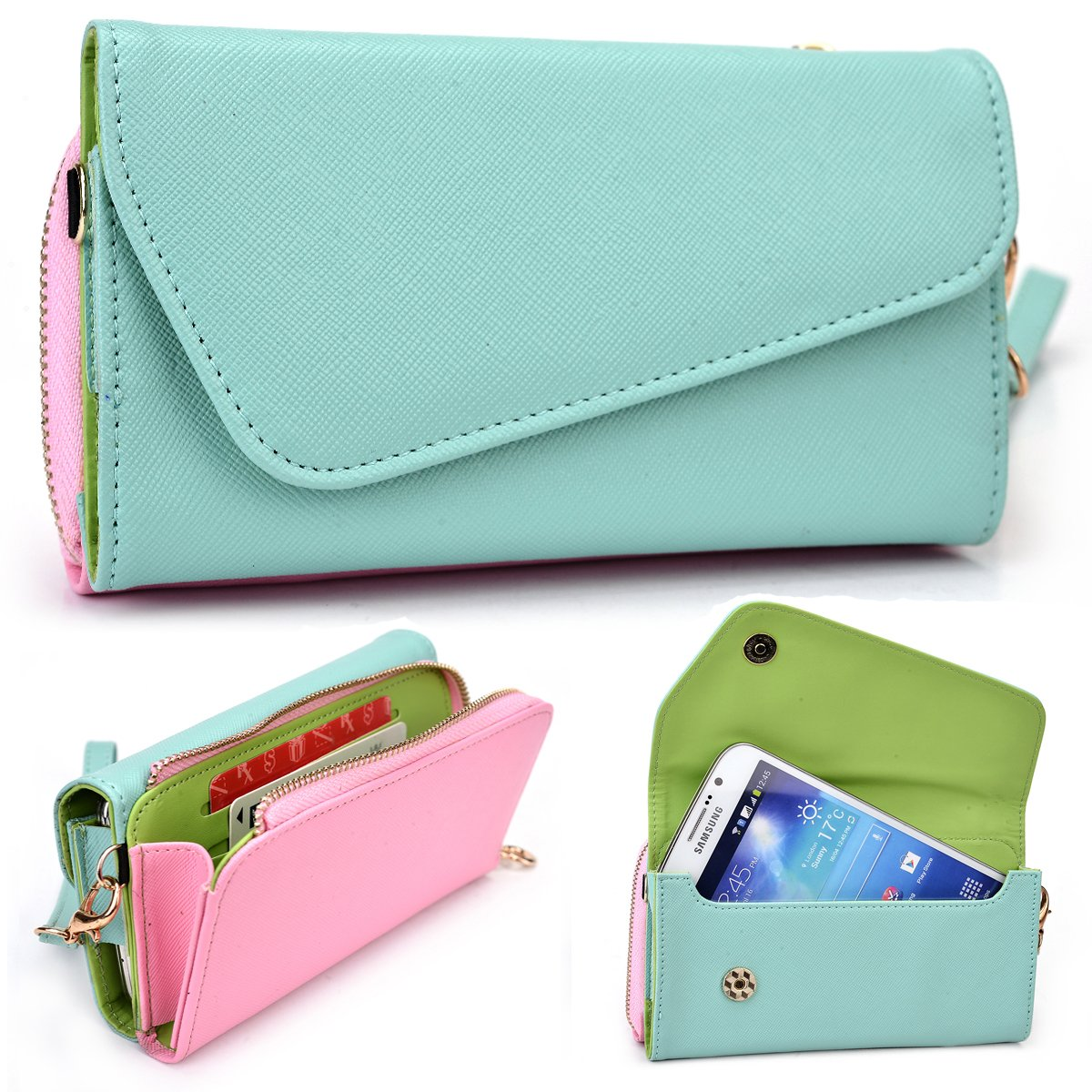Huawei Ascend Mate 2 MT2-C00 CDMA Accessories / Ladies Cell phone Purse with Strap