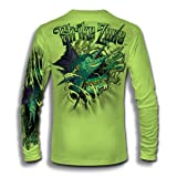 Jason Mathias Strike Zone Sailfish LS High Performance Shirt (Color: Lime Shock Green, Tamaño: 4X-Large)