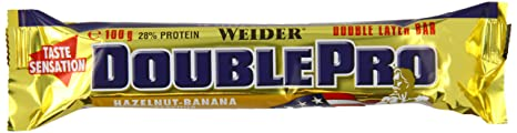 Weider Double Pro Bar Hazelnut-Banana 24x100g, 1er Pack (1 x 2,4 kg)