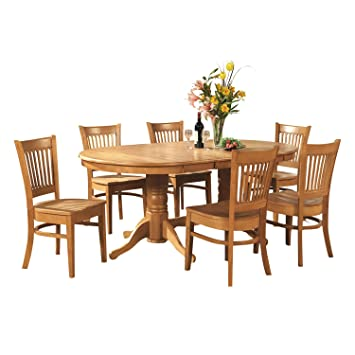 East West Furniture VANC5-OAK-W 5-Piece Dining Table Set