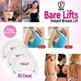 Bare Lifts Tape - Instant Boobs Lift Pasties - Breast Push It Up Bust Shaper Bra Adhesive (Color: White)