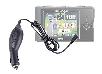 Duragadget Chargeur Mini USB Allume-Cigare Voiture pour GPS Wikango XL First et Premium Inforad Ci et Smart