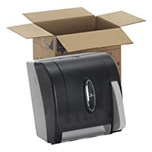 "Georgia-Pacific Vista 54338 Black Hygienic Push Paddle Roll Paper Towel Dispenser, 12.75"" Width x 14.25"" Height x 10.5"" Depth"