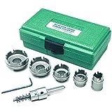 Greenlee 660 Kwik Change Stainless Steel Hole Cutter Kit, 7-Piece (Color: Multi, Tamaño: 7-Piece)