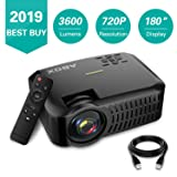 Projector,2019 Newest ABOX A2 Native 720P Portable Home Theater LCD HD Video Projector with 3600 Lumen,180