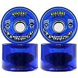 Bigfoot Longboard Wheels 76mm 80A Shr Mountain Cruisers Translucent Blue
