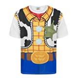 Toy Story Disney Woody Costume Boy's T-Shirt (9-10 Years) (Color: White, Tamaño: 9-10 Years)