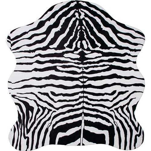 Classic Safari 56 x 61 Zebra Print Rug
