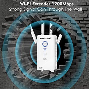 WAVLINK ARIEAL G - AC1200 Gigabit WiFi Range Extenders Signal Booster 1200Mbps 2.4+5Ghz Dual Band Wi-Fi Amplifier Repeater/Wireless Router/Access Point AP 3 in 1, Works w/Any Router, Upgrade Version (Color: ARIEAL G - AC1200)