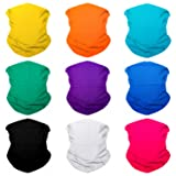 SoJourner 9PCS Seamless Bandanas Face Mask Headband Scarf Headwrap Neckwarmer & More – 12-in-1 Multifunctional for Music Festivals, Raves, Riding, Outdoors (Solid 2) (Color: 9PCS Solids Series 2, Tamaño: One_Size)