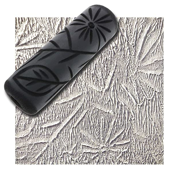 Drywall Texture Pattern Roller for Decorative Paint Texturing (Foliage Pattern)