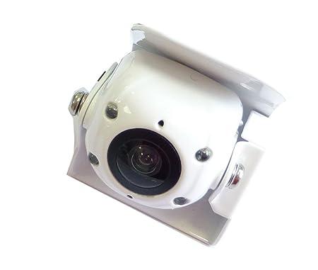 Dietz AVCAM_10W Mini-caméra infrarouge CCD IP68 de recul avec microphone Blanc