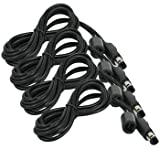 HDE Nintendo GameCube 6ft Controller Extension Cable Cord for Nintendo Gamecube and Original Wii (4 Pack Bundle)